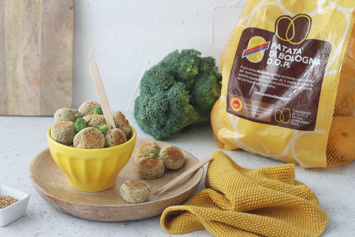 Polpette di Patata di Bologna D.O.P. e broccoli
