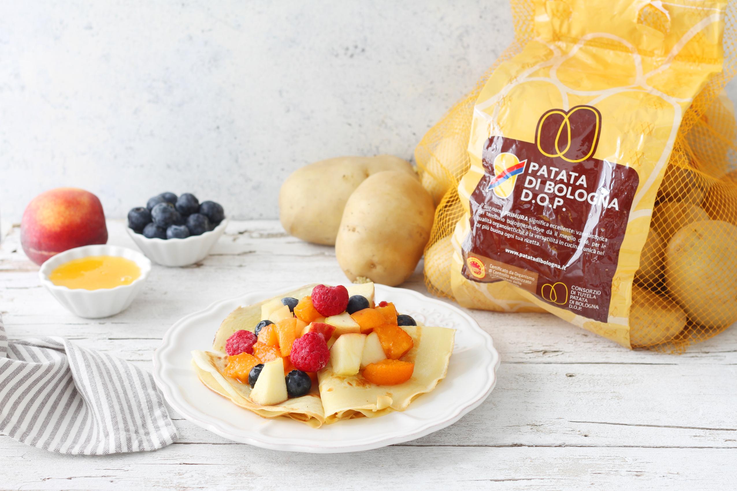 Crepes di Patate di Bologna D.O.P. frutta e miele